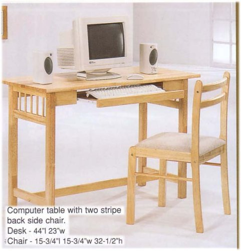 Buy Low Price Comfortable WOODEN COMPUTER TABLE WITH UPHOLSTERED CHAIR (B000JI4LF8)
