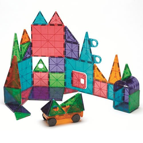 Magna Tiles R 48 Piece Clear Colors Deluxe Set
