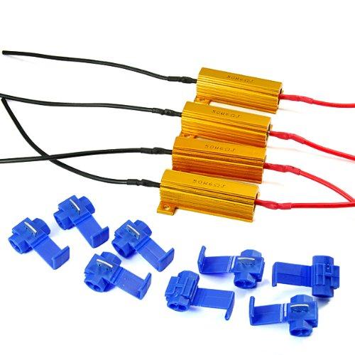 Universal For Car Signal Led Light Lamp 12V 50W 6-Ohm Load Resistor Led Bulbs Kits X 4Pcs