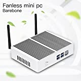 XCY Fanless Aluminium Alloy Mini Pc Computer Intel Core I3 4010Y Desktops Windows 10 (Barebone)