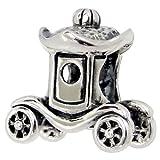 Transporte Y Automoviles Best Deals - So Chic Joyas - Abalorio Charm Carro príncipe princesa de automóviles Transporte - Compatible con Pandora, Trollbeads, Chamilia, Biagi - Plata 925
