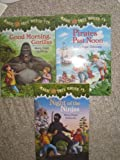 img - for Three Magic Tree House Paperbacks (#26 Good Morning Gorillas; #5 Night of The Ninjas; #4 Pirates past Noon) book / textbook / text book