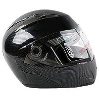 TCMT Adult Carbon Fiber Black Full Face Motorcycle Helmet DOT XL from TCMT
