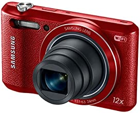 "Samsung WB35F - 16.2MP Smart WiFi & NFC Digital Camera with 12x Optical Zoom and 2.7"" LCD - Red (Certified Refurbished)"