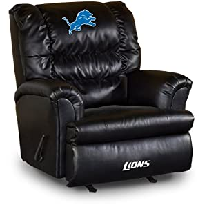 NFL Detroit Lions Big Daddy Leather Recliner by Imperial