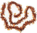 ハロウィンクリスマスの演出にパーティモールキラキラ飾りデコレーション(カボチャオレンジ)