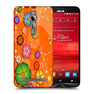 Snoogg Colorful Flowers Designer Protective Back Case Cover For ASUS ZENFONE 2