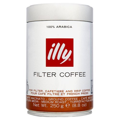 illy Caffe Ground Coffee Medium Grind Medium Roast 8.8 Oz. for Drip Coffeemakers & French Presses (French Roast Coffee Maker compare prices)