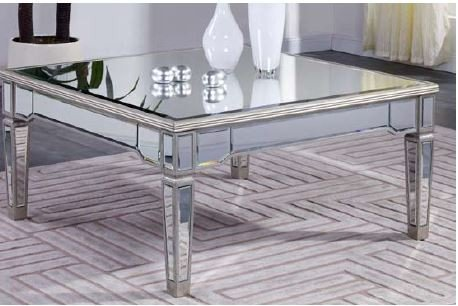 Silver Mirrored Furniture back-1080961
