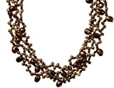 """Gold-Filled Dyed Chocolate Freshwater Cultured Pearl Necklace, 17"""""""