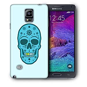 Snoogg Blue Skull With Golden Teeth Designer Protective Back Case Cover For SAMSUNG Galaxy NOTE 4