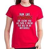 CafePress Run Like Zombies are Chasing Women's Dark T-Shirt