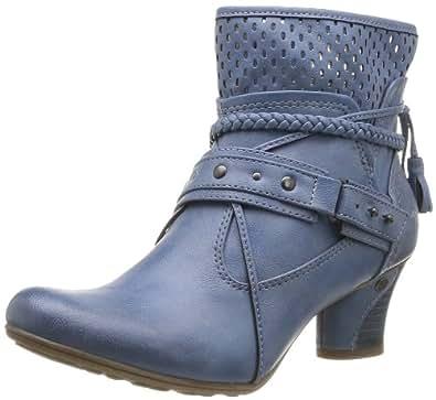 Mustang 1156501, Boots femme - Bleu (8 Blau), 36 EU