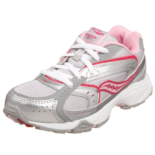 Saucony Cohesion Lace Running Shoe (Little Kid/Big Kid),Raspberry,7 M Us Toddler