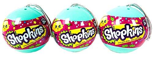 Shopkins - Christmas Ornament 2 Shopkins In A Bauble - Bundle of 3