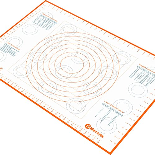 Extra Large Silicone Pastry Mat with Measurements and Conversion Charts, 29.6
