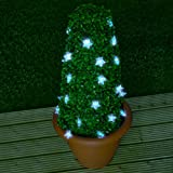 Great Ideas Set of 50 Star Shaped String Solar Powered Lights - Automatically Turn On At Night To Decorate Your Garden Trees and Plants