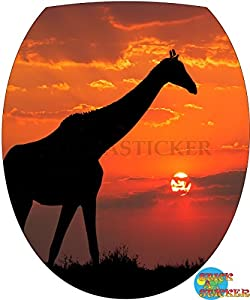 Sticker Autocollant Abattant WC Girafe 26x34cm réf 064
