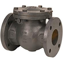 NIBCO NHE300K Cast Iron Irrigation Check Valve, Horizontal Swing, Class 125, Bronze Seat, 6&#034; Flanged