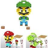 Loz 3box Diamond Block Mario Luigi Yoshi Toys Compatible Nano Block Parent Child Games Building Blocks Childrens...