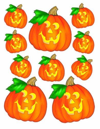Eureka Halloween Jack O'Lanterns Stickers