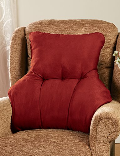 faux-suede-back-rest-lumbar-support-cushion