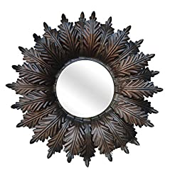 Ruhi Collections Metal Decorative Wall Mirror for Home Dcor