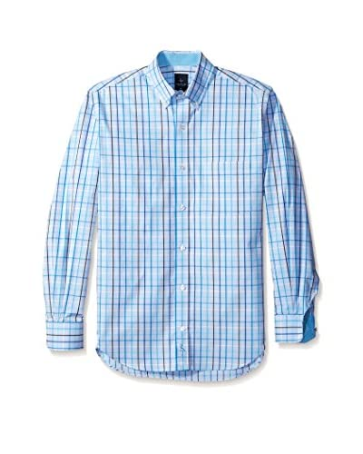 Tailorbyrd Men's Long Sleeve Button-Down with Contrast Placket