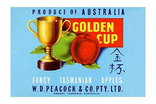 """Golden Cup"" Print (Black Framed Poster Print 20x30)"