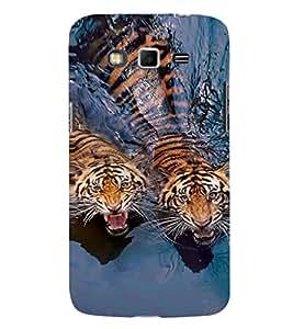 EPICCASE Swimming Tigers Mobile Back Case Cover For Samsung Galaxy Grand Max (Designer Case)