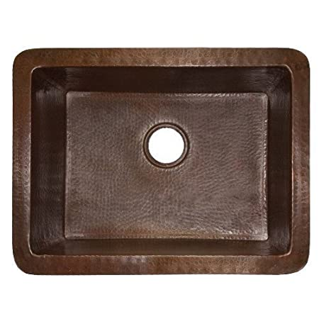 "Cocina 24"" x 18"" Copper Kitchen Sink Finish: Antique Copper"