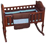 Baby Doll Bedding Cocoa Dots Cradle Set