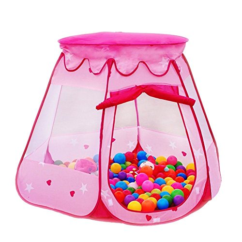 Cute Pop Up Play House Kids Tent Children Princess Castle Pink Baby Gifts