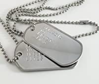 Allergic to Insect Bites Medical ID Alert Military Dog Tags Necklace Allergy