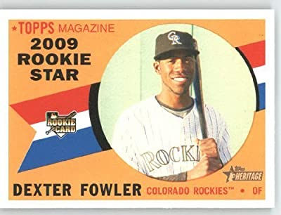 Dexter Fowler (RC) - Colorado Rockies (RC - Rookie Card) 2009 Topps Heritage Card # 122 - MLB Trading Card