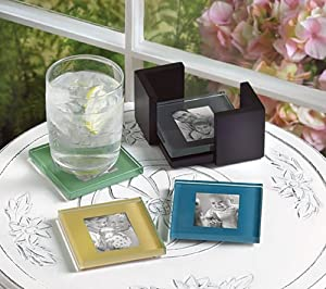 GLASS PHOTO COASTER SET
