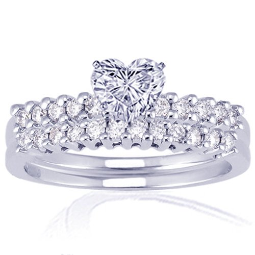 1.45 Ct Heart Shaped Diamond Engagement Wedding