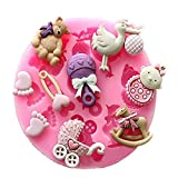 Bluelover-Bb-Landau-ours-Carrousel-Silicone-Moule-Fondant-Cake-Decoration-Moule
