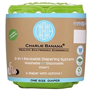 Charlie Banana 2-in-1 Reusable Diapers One Size - Green