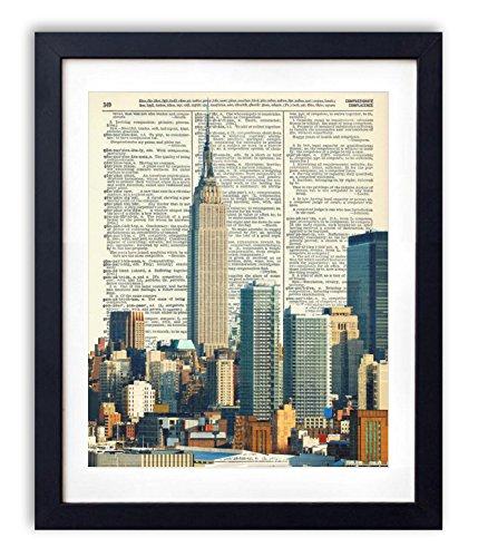 empire-state-building-new-york-city-color-skyline-vintage-dictionary-art-print-8x10