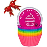 Black Friday Sale! Globally Good® Silicone Baking Cups / Cupcake Liners - 12 Premium Reusable Muffin Molds in Storage Container