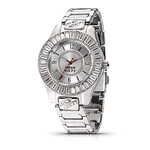 Miss Sixty Just time SCY003 - Reloj para niñas de cuarzo, correa de acero inoxidable color plata