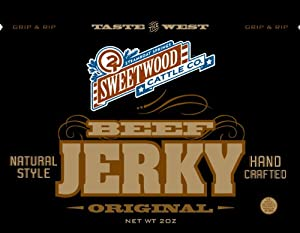 Sweetwood Jerky Original Flavor, 2-Ounce-Bag Multipack by Sweetwood Jerky Co.