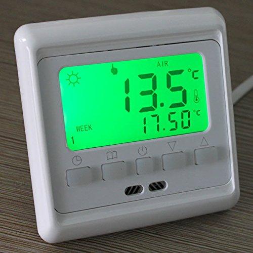 Flying Colourz Bouton programmable lcd sol salle de plancher chauffant thermostat commande de chauffage