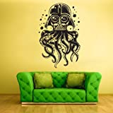 Wall Vinyl Sticker Decals Decor Tentacles Octopus Deep Sea Ocean Fish Scuba Dart Vader Mask (Z2284)