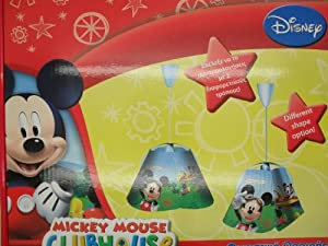 Disney Mickey Mouse Childrens Childs Bedroom Duo Shape Ceiling Roof Light Lamp by Disney