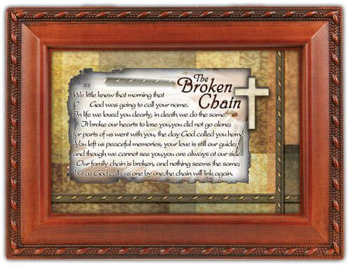 The Broken Chain Bereavement Keepsake Cottage Garden Inspirational Music Jewelry Box Plays Amazing Grace (Amazing Grace Picture compare prices)