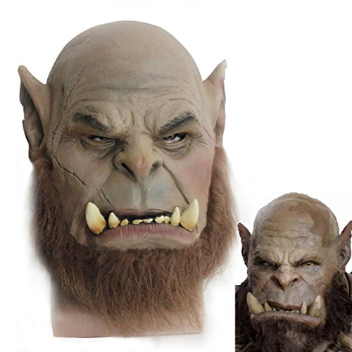 World of Warcraft Orc Warriors Durotan Brother Orgrim Cosplay Mask Latex Cosplay Mask (Orgrim)