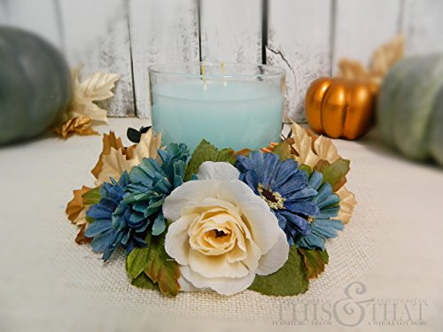 autumn-blues-candle-enhancer-fall-candle-wreath-harvest-candle-wrap-thanksgiving-candle-wreath