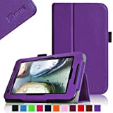 Fintie Lenovo IdeaTab A1000 7-Inch Android Tablet Folio Case - Premium Leather Cover Stand With Stylus Holder - Violet